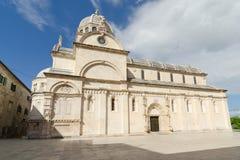 希贝尼克。大教堂 库存照片