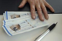 100 400帐单币种丹麦dkr附注 免版税库存图片