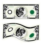 帐单币种美元 免版税库存图片