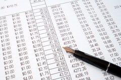 帐户复核 免版税库存图片