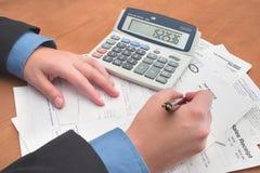 帐户执行 免版税库存图片