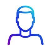 帐户用户象 一个人的标志剪影 图库摄影