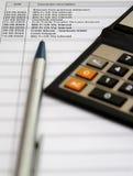 帐户银行对帐单 免版税库存图片