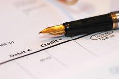 帐户银行详细资料 免版税库存图片