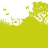 帐篷和营地在草 库存照片