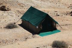 帐篷在沙漠 库存照片