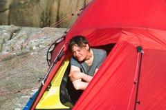 帐篷妇女年轻人 图库摄影