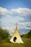 帐篷帐篷印地安人 免版税库存图片