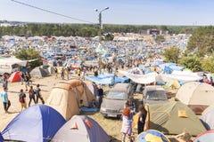 帐篷村庄和休息区 图库摄影