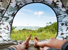 帐篷的天堂 免版税图库摄影
