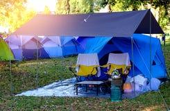 帐篷野营 免版税图库摄影