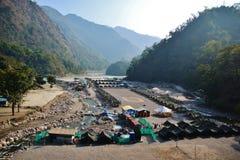 帐篷阵营在喜马拉雅山 库存照片