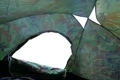 帐篷阵营里面看法与空门户开放主义的入口的 库存图片