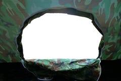 帐篷阵营里面看法与门户开放主义的入口的 免版税库存图片
