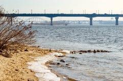 帕东桥梁在基辅 免版税库存图片