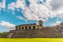 帕伦克废墟在恰帕斯州墨西哥 库存图片