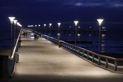 帕兰加海码头  免版税图库摄影