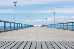 帕兰加立陶宛- 6月13日:在帕兰加木船坞的看法 库存图片