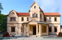 帕兰加Kurhaus在帕兰加,立陶宛普遍的度假村  免版税库存照片