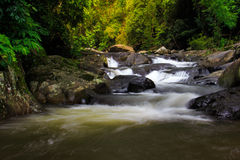帕劳瀑布在泰国 库存照片