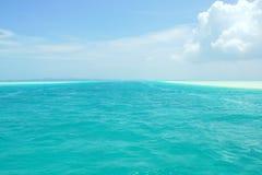 帕劳的蓝色海和蓝天 库存图片