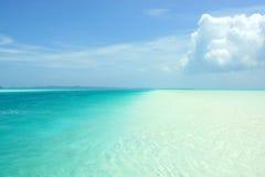 帕劳的蓝色海和蓝天 库存照片
