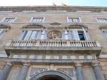 帕劳de la Generalitat de Catalunya在巴塞罗那 免版税库存图片