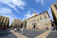 帕劳de la Generalitat de Catalunya,巴塞罗那 免版税库存照片