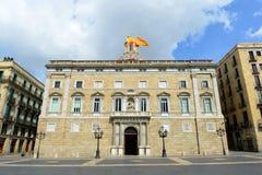 帕劳de la Generalitat de Catalunya,巴塞罗那 库存照片