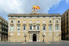 帕劳de la Generalitat de Catalunya,巴塞罗那 免版税图库摄影