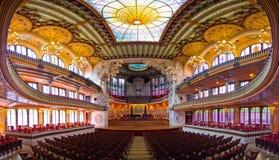 帕劳de la Musica -巴塞罗那,西班牙 免版税库存图片