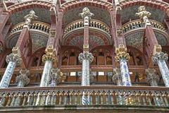 帕劳de la Musica Catalana, Ribera处所,巴塞罗那,西班牙 图库摄影