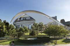 帕劳de les Arts女王索非亚是巴伦西亚歌剧院  库存图片