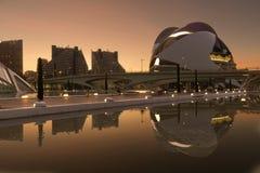 帕劳de les Arts女王索非亚是巴伦西亚歌剧院  图库摄影