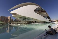 帕劳de les Arts女王索非亚是巴伦西亚歌剧院  免版税库存照片