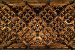 帕劳Guell的天花板由建筑师安东尼Gaudi设计了 库存图片