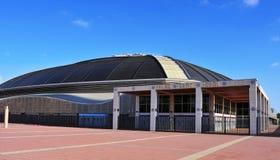 帕劳Sant霍尔迪竞技场在巴塞罗那,西班牙 免版税图库摄影