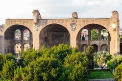 帕勒泰恩小山废墟,罗马,意大利 免版税库存图片