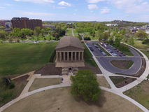 帕台农神庙博物馆,纳稀威,田纳西鸟瞰图  免版税库存图片