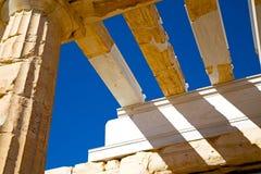 帕台农神庙和历史老建筑学地方 免版税库存照片