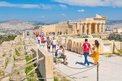 帕台农神庙在雅典,希腊 图库摄影