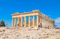 帕台农神庙在雅典,希腊 库存图片