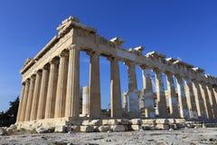 帕台农神庙在Akropolis,雅典 免版税库存图片