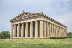 帕台农神庙复制品在纳稀威 免版税库存图片