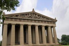 帕台农神庙寺庙的具体大型复制品在纳稀威田纳西 图库摄影