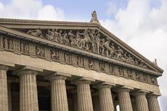 帕台农神庙寺庙的具体大型复制品在纳稀威田纳西 库存图片