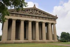 帕台农神庙寺庙的具体大型复制品在纳稀威田纳西 免版税图库摄影