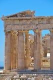 帕台农神庙希腊废墟上城的在雅典,希腊 库存照片