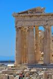 帕台农神庙希腊废墟上城的在雅典,希腊 图库摄影