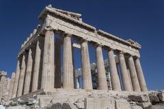 帕台农神庙是古老建筑学的纪念碑 库存图片